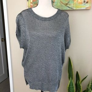 Vince silver mesh top size small